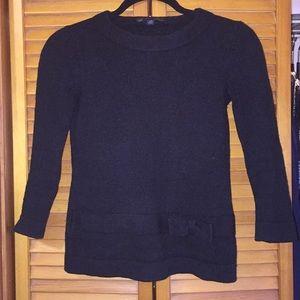 Brooks brothers bow black sweater xs